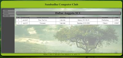 Source Code Pendaftaran Ekstrakurikuler Online